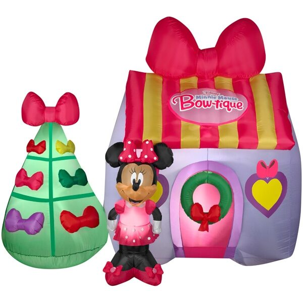 disney minnie mouse bowtique christmas airblown inflatable - Disney Christmas Inflatables
